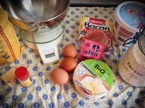 ingrédients cake normand