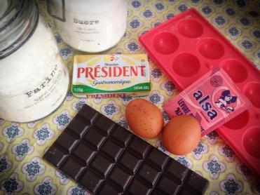 ingrédients popcakes choco